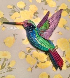 Quilled Hummingbird by Quilligree