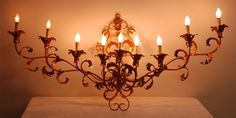 Mid Century Hollywood Regency Italian Gilt Metal 9 Light Fixture Wall Sconce | eBay