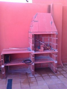 Hacer Barbacoa de obra | Bricolaje Outdoor Kitchen Plans, Outdoor Oven, Diy Grill, Barbecue Grill, Brick Bbq, Kitchen Grill, Concrete Counter, Bbq Area, Garden Doors