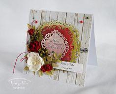 Ślubna z czerwonym akcentem Wedding Cards, Scrapbooking, Art, Wedding Ecards, Art Background, Kunst, Performing Arts, Scrapbooks, Memory Books