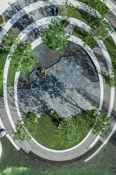 景观邦@Desperado66采集到曲线设计(35图)_花瓣 Landscape Elements, Landscape Plans, Contemporary Landscape, Urban Landscape, Landscape Architecture, Landscape Design, Garden Design, Arches Park, Commercial Landscaping