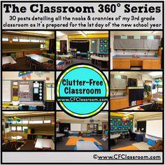 Organizing Classroom School Supplies {Classroom Design Photos, Set Up Pictures