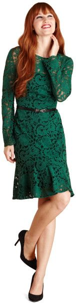Hunter Green Lace Dress