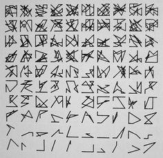 Vera Molnar: Hommage à Dürer, disparition 1987 29,5 x 21 cm