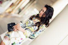 Silk Chains :: Printed dress