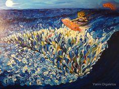 Hege the Kitesurfer by Yianni Digaletos