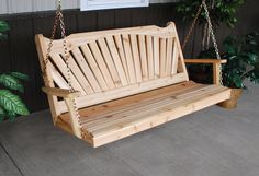 Cedar 4 Foot Fanback Style Swing Unfinished by FurnitureBarnUSA