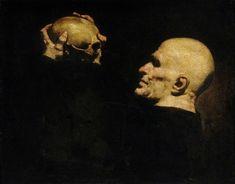 Man with a Skull, Jusepe de Ribera (1591–1652), Museums Sheffield