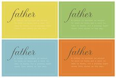 Father's Day Printable. A father is neither an anchor to hold us back, nor a sail to take us there, but a guiding light whose love shows us the way.