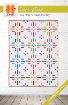Dashing Dots- scrap friendly quilt pattern available in 5 sizes