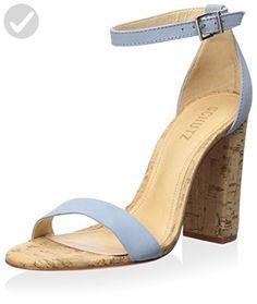 Schutz Women's Enida Cork Block Heel Sandal, Jeans/ Nobuck, 8 M US - All about women (*Amazon Partner-Link)