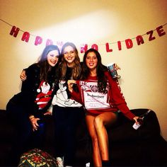 Happy Holidaze from me and my BUDs! This was going to be a pretty neat pun if you could have read my BUDweiser sweater. :/