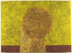 Rufino Tamayo (Mexican, 1899-1991) Cabeza Sobre Fondo Verde. Lot 163-5001