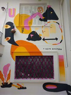 Street Art Paintings - Utopia Mural for Bigud Social on Behance Murals Street Art, Street Art Utopia, Street Art Graffiti, Mural Wall Art, Mural Painting, Diy Garden, Public Art, Art Inspo, Pop Art