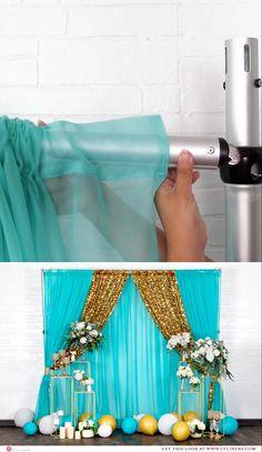 Desi Wedding Decor, Diy Wedding Backdrop, Wedding Stage Decorations, Backdrop Ideas, Backdrop Decorations, Diy Party Decorations, Backdrop Photobooth, Balloon Backdrop, Diy Pipe And Drape