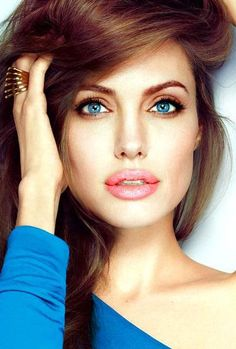 Angelina Jolie has naturally beautiful eyes