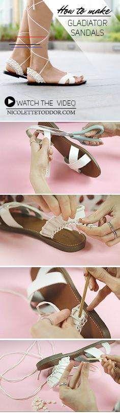 Sapatilha bordada com pérolas | Sapato refashion