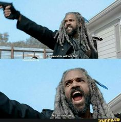 7x16 'The First Day of the Rest of Your Life' I FUCKING LOVE YOU KING EZEKIEL!!! THANK YOU FOR SAVING ALEXANDRIA