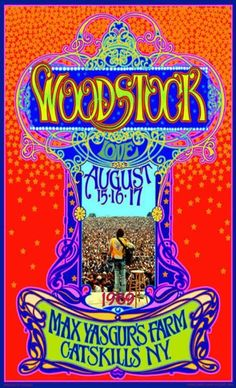 Psychedelic Woodstock anniversary poster by: BobMasseStudios on Etsy Woodstock Festival, Woodstock Concert, 1969 Woodstock, Musikfestival Poster, Kunst Poster, Posters Vintage, Vintage Concert Posters, Retro Posters, Hippie Posters