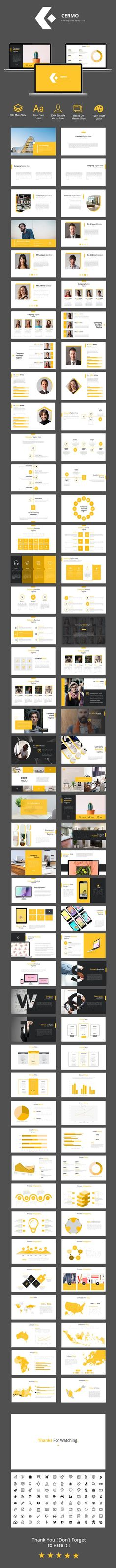 Buy Cermo - Powerpoint Template by UJ-Stilus on GraphicRiver. Cermo – Powerpoint Template Features Total Slide Vector Icon Free Font Used Aspect Ratio Based On Maste. Keynote Design, Ppt Design, Brochure Design, Brochure Template, Layout Design, Graphic Design, Design Templates, Presentation Slides, Presentation Design