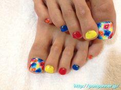 ランダムなお花がかわいいフットネイル  Foot nail cute flower random Cute Toe Nails, Cute Toes, Pretty Toes, Toe Nail Art, Love Nails, Pretty Nails, Toe Polish, Nail Polish Colors, Toe Nail Designs