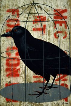 Le Corbeau (The Raven) is a 1943 French film directed by Henri Georges Clouzot . Crow Art, Raven Art, Bird Art, Crow Illustration, The Caged Bird Sings, Quoth The Raven, Jackdaw, Crows Ravens, Street Art