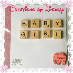 Handmade Congratulations Card New Baby Girl Card Baby Shower