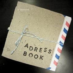blog de coses: Adress book amb sobres