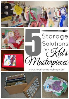5 Storage Solutions for Kid's Artwork Projects For Kids, Crafts For Kids, Arts And Crafts, Diy Crafts, Creating Keepsakes, Storage Solutions, Storage Ideas, Train Up A Child, Artwork Display