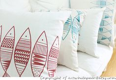This Animals Pink Fish Indoor/outdoor pillow case is perfect for porches and sunrooms, indoors and outdoors. It will make the perfect accent on a chair, sofa, window seat, car seat or bed. It would also make a perfect gift. Listing price is for one pillow case,two color available,choose from drop down option.   ✪✪✪✪✪✪✪✪✪✪✪✪✪✪✪✪ Custom made size,choose from drop down which exactly matches your pillow dimensions. **Front Fabric: 100% natural cotton canvas **Back Fabric: 100% natural cotton…