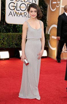 Fabulously Spotted: Tatiana Maslany Wearing Jenny Packham - 2014 Golden Globe Awards  - http://www.becauseiamfabulous.com/2014/01/fabulously-spotted-tatiana-maslany-wearing-jenny-packham-2014-golden-globe-awards/