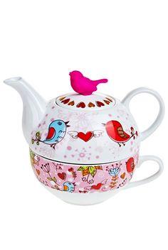 Набор чайный «Влюбленные птички»