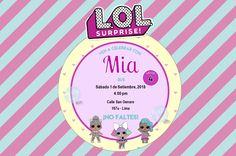L.O.L surprise - Invitaciones digitales   Party Pop Princess Party, Birthday Parties, Diy, Poster, Invitation Birthday, Digital Invitations, Printable Tags, Girls Birthday Parties, Lol Dolls