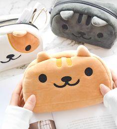 Nyanko Plush Pencil Case - Animals and Pet Supplies