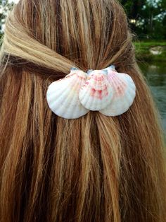 Triple Shell Clip with glitter on Etsy, $11.00