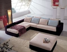 Stylish Quality Microfiber L-shape Sectional - Click Image to Close