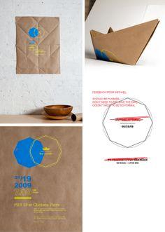 Invitación Matrimonio formato Poster reducida a un barco plegado como origami ::: My ORB · Lucie Kim
