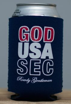God, USA, SEC Koozie