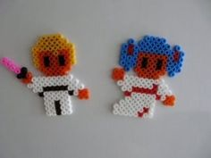 Star wars bead pattern - luke skywalker & Leia