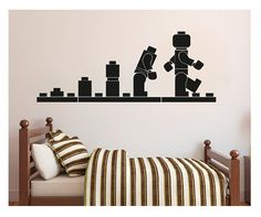 LEGO Wall decal Evolution autocollant mur autocollant Home Decor Art Vinyl pochoir Kids chambres Art autocollant sticker