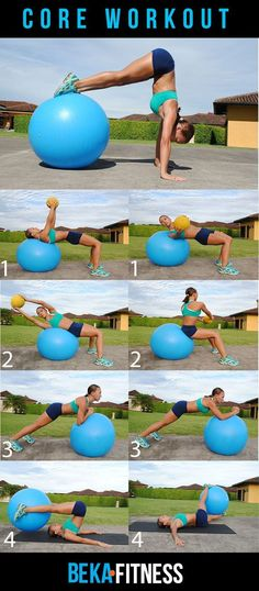 Swiss Ball Core Workout--I can totally see myself doing that handstand.