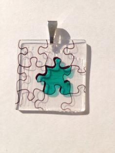 $6.00 Puzzle Pieces Shrink Plastic Pendant on Etsy @ dinkydoodlesbydana