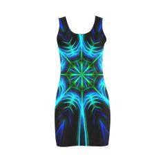 Blue Kaleidoscope Medea Vest Dress (Model by Tracey Lee Art Designs Artwork Design, Colourful Outfits, Lovely Dresses, Art Designs, Advertising, Shops, Vest, Community, Bright