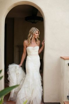 Wedding 2013 / strapless + tiered + fitted wedding dress // gorgeous wedding by @Sterling Social