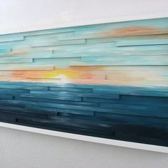 Abstract Landscape Painting on Wood – Abstract Wall Art – Sculpture – Wood Wall Art – Sunset Painting, Modern Rustic Art Abstract Landscape Painting on Wood Abstract di ModernRusticArt Art Diy, Diy Wall Art, Abstract Landscape Painting, Abstract Wall Art, Landscape Art, Landscape Paintings, Art Rustique, Deco Surf, Reclaimed Wood Wall Art