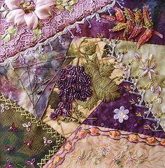 crazy quilt blocks | Beautiful crazy quilt block