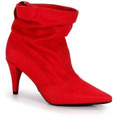Ankle Boots Salto Fino Beira Rio - Vermelho