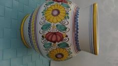 modranská keramika váza XL Saddle Bags