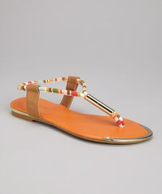 Take a look at this Orange Esperanza Sandal by Bamboo on #zulily today!