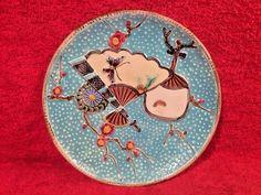 Antique Fielding Majolica Fan Plate c.1800's, em90 #AestheticMovement #Fielding